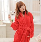 winter thickening women  robe coral fleece sleepwear flannel bathrobe lounge bathrobe(China (Mainland