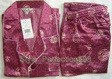 Free Shipping!Big Discount!Hot Sale 2PCS New Men's Silk Pajamas Long Sleeves Sets Suit Many Designs S,M,L,XL,XXL,XXXLMR006(China (Mainland))
