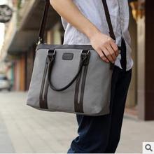 New 2014 arrival men fashion computer messenger bags canvas men's travel bags men briefcase casual handbags(China (Mainland))
