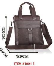 Rushed Retail high quality men brand briefcase genuine leather Portfolio brown shoulder bag messenger genuine+PU 2014New BG0093(China (Mainland))