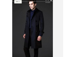Free shipping ! Fashion classic men's long coat type jackets essential Mens Special /SX-3XL(China (Mainland))