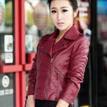 Women leather Jacket Coat XS-XL slim Short Paragraph diagonal Zipper outerwear coats new 2015 autumn motorcycle jacket us403(China (Mainland))