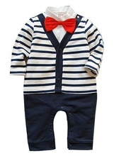 The spring and autumn  and the latest 2014 male baby cotton gentleman bow tie long-sleeved dress cute upgrades handsome ATZ064(China (Mainland))