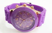 Free Shipping New Geneva 15 Colors Optional Women Dress Watch 2014 Quartz  Men Silicone Sport Watches Unisex Wristwatch(China (Mainland))