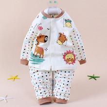 2014 High Quality Autumn Winter Pajamas for Baby Boys Baby Girls Pure Cotton Long Sleeve Cartoon Print Sleepwear for Kids Retail(China (Mainland))