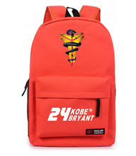 12 colours New 2015 hot Kobe Bryant reverse movement backpack triangle canvas male black mamba bag backpack schoolbags(China (Mainland))