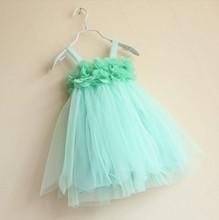 2013 infant baby girls lace dresses children clothing for autumn -summer kids princess flower tutu dress 4colors pink cake dress(China (Mainland))
