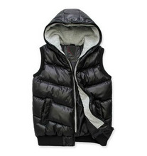 Free shipping 2014 winter new Korean Slim down cotton vest fashion casual comfortable wave of men vest four color size M to XXXL(Chin