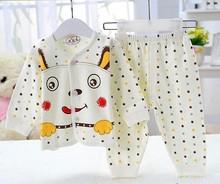 Retail 2 pcs set new 2015 brand babys cotton sleepwear boys Despicable Me pyjamas girls cartoon clothing kids pajama(China (Mainland))