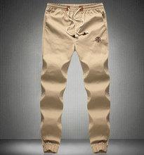 Plus Size Drawstring Men Pants Fit Cotton jogger pants Mid Rise Leisure Men's Trousers Mens Pants XXL-6XL(China (Mainland))
