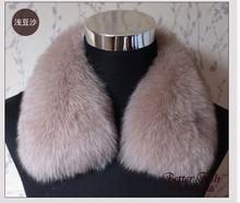 Free shipping 2014 Super real fox fur collar square collar men women's leather fox  fur collar fur scarf(China (Mainland))