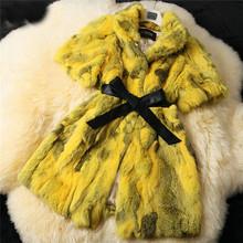 DL7002 Free Shipping Genuine Rabbiat Fur Coats Jackets Women Nature Fur Vest Waistcoat Real Rabbit Fur Vest Plus Size(China (Mainland))
