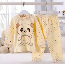 70%OFF hot selling  2014 NEW Panda shaped Lovely Unisex Pure cotton underwear suits,winter baby,children Keep warm 3color gifts(China (Mainland))