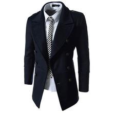Mens Wool Jackets Long Sleeve Turn-down Collar Mens Trench Jackets Single Breasted Casual Outwear Jackets Coats Wholesales(China (Mainland))