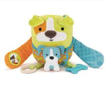 New 2014 Baby Toys Plush Toys Kids Multifunctional Learning & Education Dolls Kawaii Owl Design Stuffed Animals Free Shipping(China (Mainland))