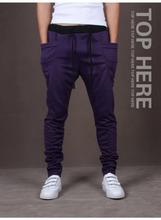 Harem Pants New Style Fashion 2014 Casual Skinny Sweatpants Sport Pants Trousers Drop Crotch Jogging Pants Men Joggers Sarouel(China (Mainland))