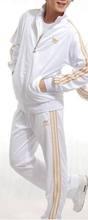 2014 Hot new brand Unisex Suits SportsWear women /men long-sleeve tracksuit sport suit jacket+pants set uniforms S-XXXL(China (Mainland))