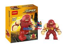 Pre-Sale!Decool191 190 Marvel SUPER HERO 2pcs/lot juggernaut figures Amazing Spider-Man rhino block toys rhino figures (China (Mainland))