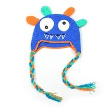 Cute Monsters Designs Winter Warm Cotton Children Baby Kids Crochet Hats Christmas Gift(China (Mainland))