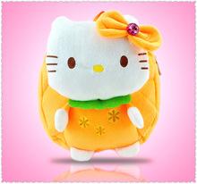 J.G Chen New Arrival Children Plush Cartoon Bags Kids Backpack Children School Bags Hello Kitty Bags for Kindergarten Girl Baby(China (Mainland))