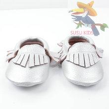 Wholesale Baby Moccasins Shoes toddler Newborn Baby firstwalker Soft Sole Genuine Leather Prewalker boy girl Butterfly Tassels(China (Mainland))