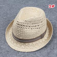 Retail High Quality Children Hat Fedoras Baby Summer Sun Cap Kids Fedora Hat Boys Girls Straw Jazz Cap (China (Mainland))