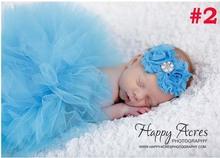 Pettiskirt Infant Costume Outfit Princess Tutu Skirt Matching Headband New Newborn Baby Fashion Tutu Design Photography Props(China (Mainland))