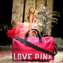 2015 Women's Brand Fringe Handbags VS Love Pink Large Capacity Travel Duffle Striped Waterproof Beach Bag Shoulder Bag Yoga Bag (China (Mainland))