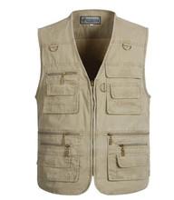 Big size L XL XXL 3XL 4XL 5XL  Men's Clothing Fashion Casual Waistcoats Military Fishing Outdoor Vest Jackets(China (Mainland))