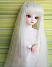 """1/4 7-8 """"  Bjd sd doll wig high temperature wire long lovely long striaght BJD Super Dollfile Hair Wig Free Shipping (China (Mainland))"""