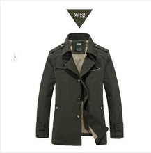Best Quality New Arrived 2015 Men's Popular Fashion Long Trench Coat Casual Outdoor Jacket Plus Size M-5XL,4 Colors For Choose(China (Mainland))