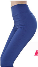 6XL XXXXXXL Large/Plus size high waist pants 2015 Summer women sexy candy color stretch pencil trousers pants High Quality(China (Mainland))