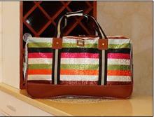 Hot Sale Large Capacity 2014 Waterproof Fashion Women Travel Bag Shoulder Handbag Luggage 11 Styles(China (Mainland))