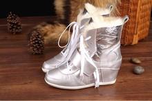 2015 New 100% puros de piel de oveja genuina botas de cuero lanas dentro de la mujer botas zapatos de la nieve nuevo estilo 4 del envío libre ASH01(China (Mainland))