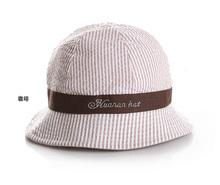 Wholesale Summer Striped Kid Bucket Hat, Children Sun Beach Hat, Kids Accessories, Boys Girls Outdoor Fishing Cap  free shipping(China (Mainland))