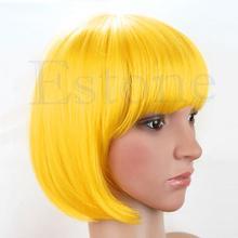 Sexy Women BOBO Head Style Straight Bang Short Wigs Hair Cap Hairnet(China (Mainland))