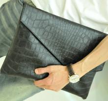 Briefcase Korean style men's New business Envelope bag, man bag, handbag retro crazy horse leather file briefcase es092(China (Mainland))
