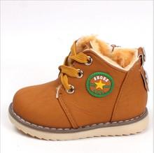 Size 21-30 New 2014 Winter Warm Kids Boots Fashion Plus Velvet  Boys Girls Shoes Children Snow Boots(China (Mainland))