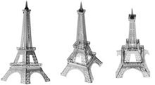 Free Shipping 1Piece Metal Works DIY 3D Laser Models / Assemble Miniature Metal 3D Model,Metallic Nano Puzzle(China (Mainland))