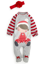 new 2014 autumn clothing exclusive new girls fawn Christmas Santa suit green little virgin suit two-piece outfit(China (Mainland))