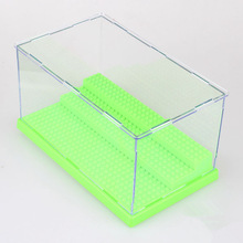 Clear Plastic Original box Building Blocks Minifigures Show case Ladder Acrylic Display cabinet Compatible with lego Display Box(China (Mainland))