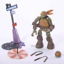 Revoltech TMNT Teenage Mutant Ninja Turtles PVC Action Figure Collectible Toy 4Styles NJFG012(China (Mainland))