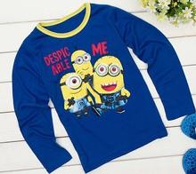 New 2014 Children Peppa Pig T Shirts, Girls Boys' t-shirts, Kids Long Sleeve Tee Cotton Baby Clothing hot sale Free Shippnig(China (Mainland))