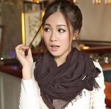 New fashion autumn winter Lady scarf Paris yarn solid color printing scarf Women Ultra wrap Free Shipping WJ3018(China (Mainland))