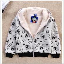 New fashion children cartoon minnie hoodies kids girls long sleeve fleece sweatshirt outerwear spring thick warm hoodies jacket(China (Mainland))