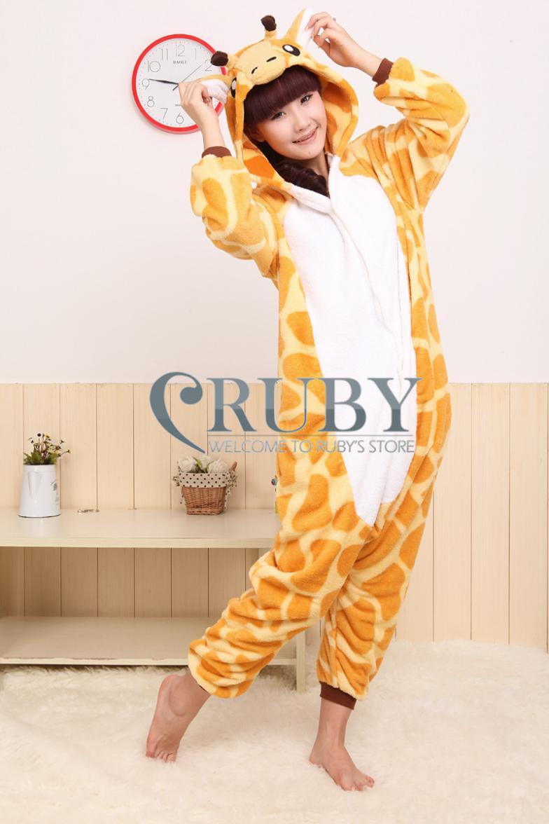 новый зоопарк животных onesie все в одном пижамы пижамы взрослый ... 20f2e2c31bd33