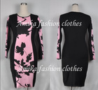 Free shipping women  Casual dresses  lady plus size 2014 new designer 0128(China (Mainland))