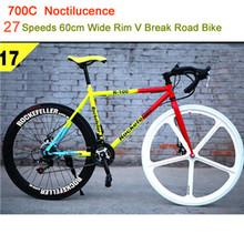 21 Speeds Road Bike High Fashion not folding bike bicicleta Brand Racing 700C Road Bicycle Lighting Cycling 60 colour assortment(China (Mainland))