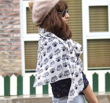 155*43cm New 2014 Autumn Vintage Chiffon Scarves, 63 Patterns Women Casual Print Lovely Bohemian Scarf Wrap Shawl Cape Free Ship(China (Mainland))