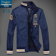 Brand aeronautica militare men jacket  2014 jaquetas militares Jackets Men's Sport Trench Outerwear Coat Air Force polo Jackets(China (Mainland))